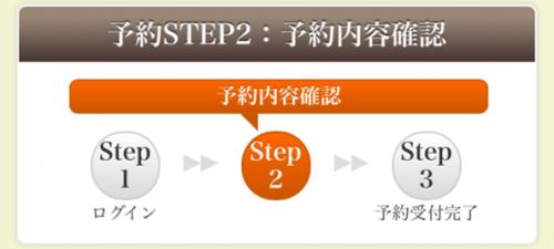 STEP2 予約内容の確認